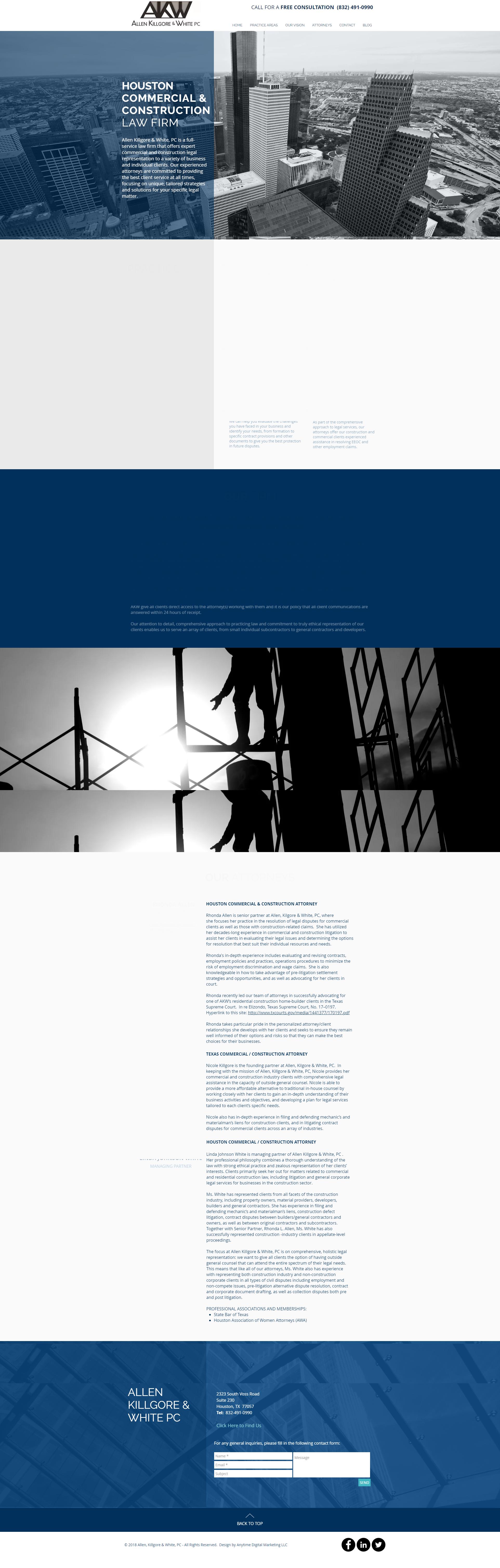 Allen Killgore White website design
