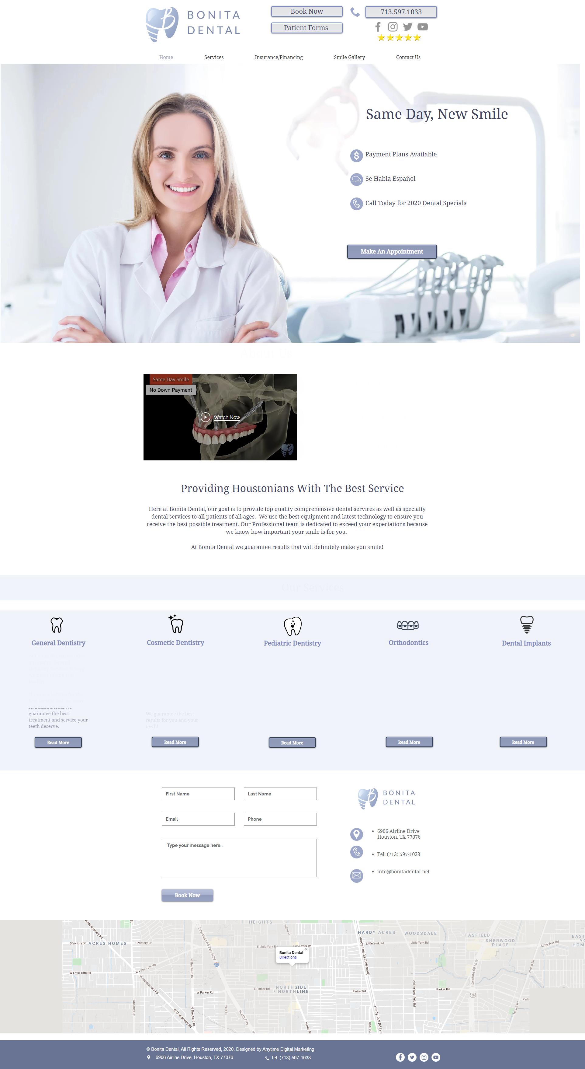 Bonita Dental Houston website design