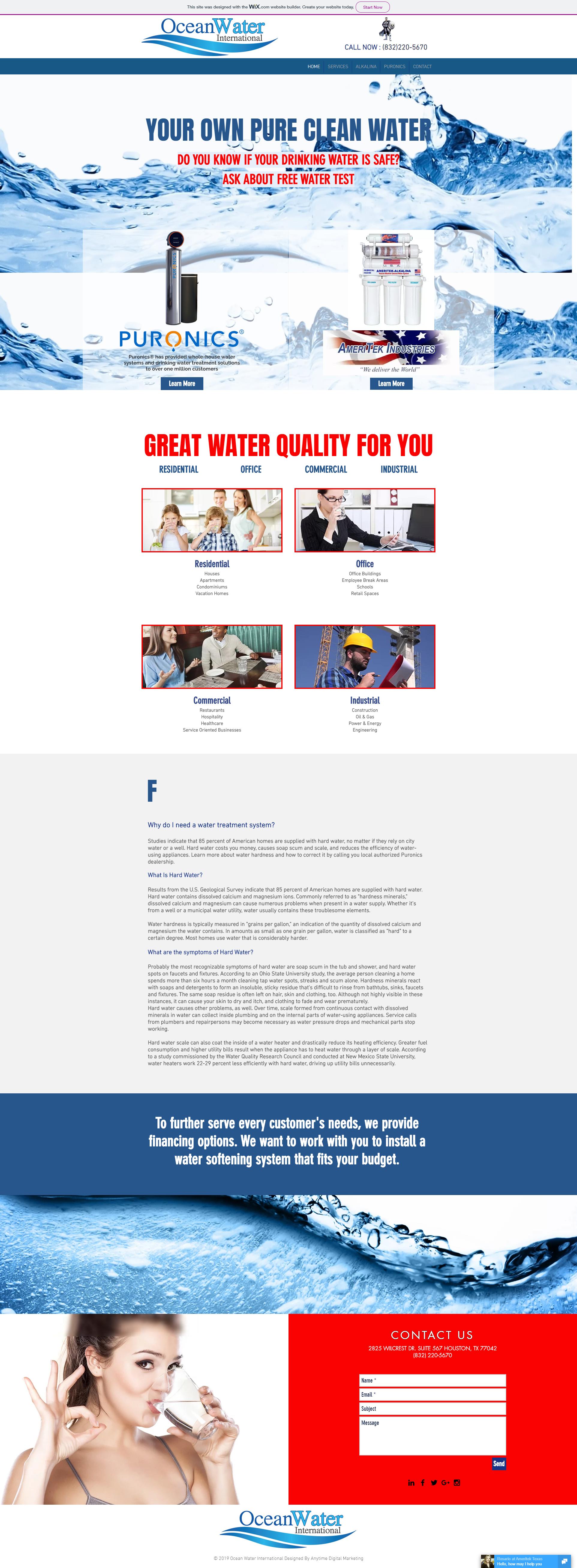 Ocean Water International website design